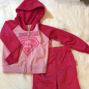 👶5/$25 2pc Super Girl Baby Sweat Suit
